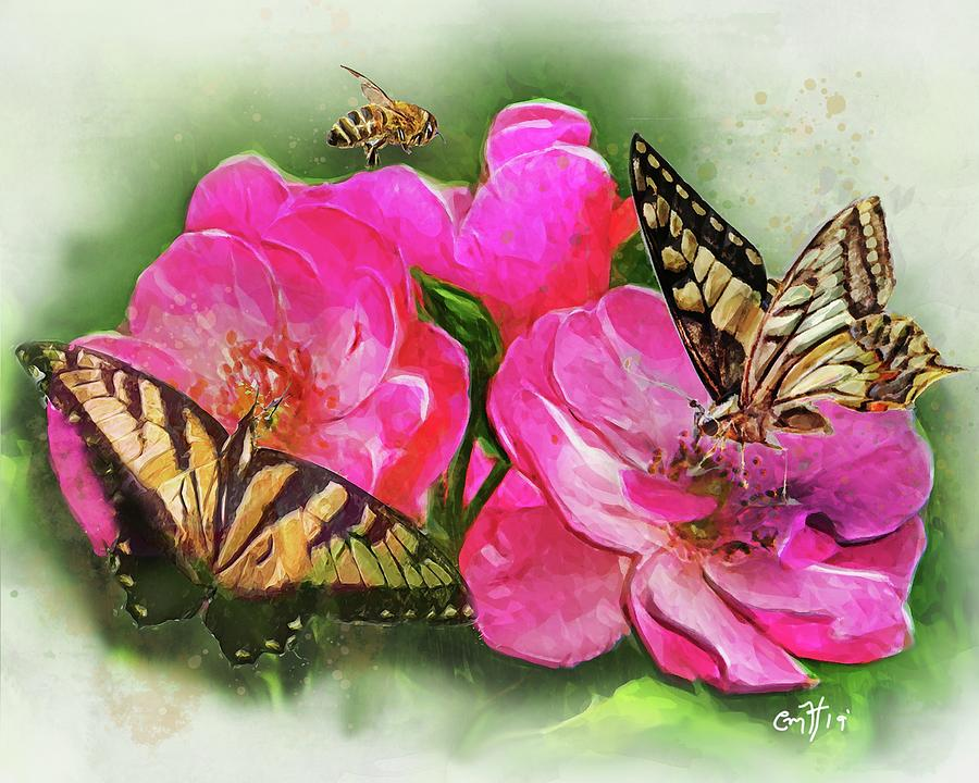 Blossoming Friends by Christina M Hale