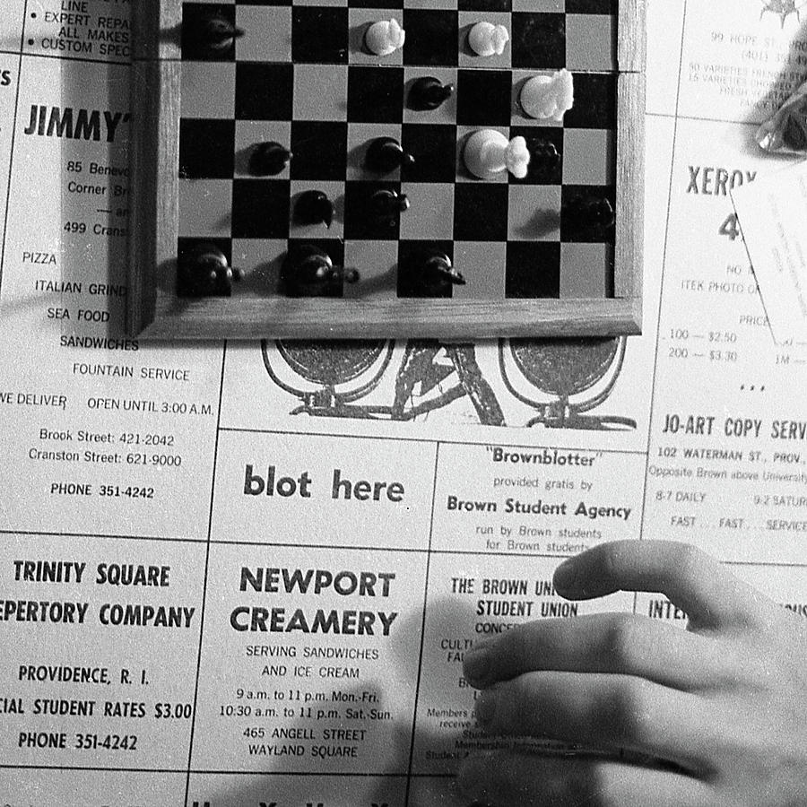 Blot Here, aka Black's Move, 1972 by Jeremy Butler