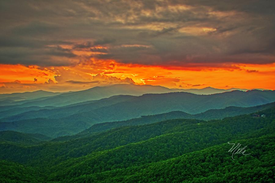 Blowing Rock Sunset by Meta Gatschenberger