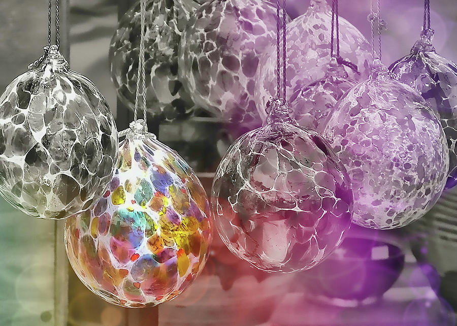 Ornament Photograph - Blown Glass Ornaments by JAMART Photography