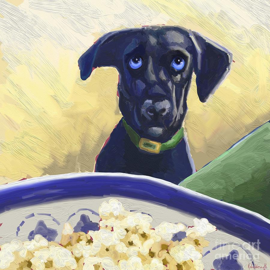 Blu loves popcorn by Robin Wiesneth
