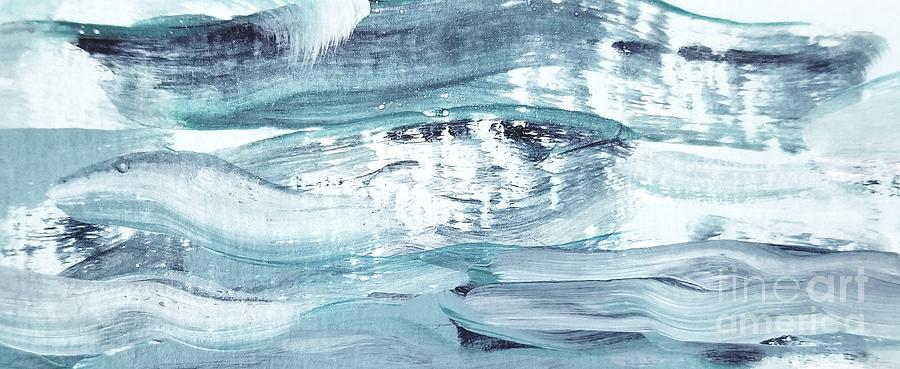 Blue #12 Painting by Maria Langgle