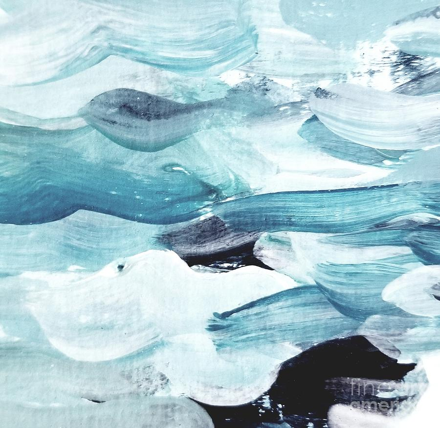 Blue #13 Painting by Maria Langgle