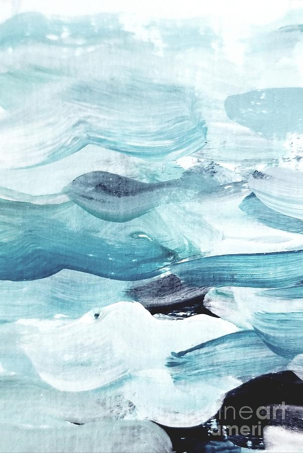 Blue #14 Painting by Maria Langgle