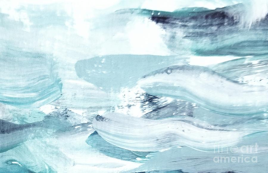 Blue #15 Painting by Maria Langgle