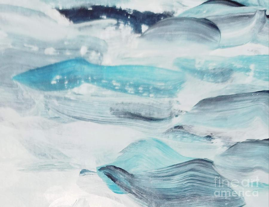 Blue Painting - Blue #7 by Maria Langgle