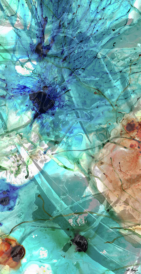 Blue Painting - Blue Abstract Art - Excellence - Sharon Cummings by Sharon Cummings