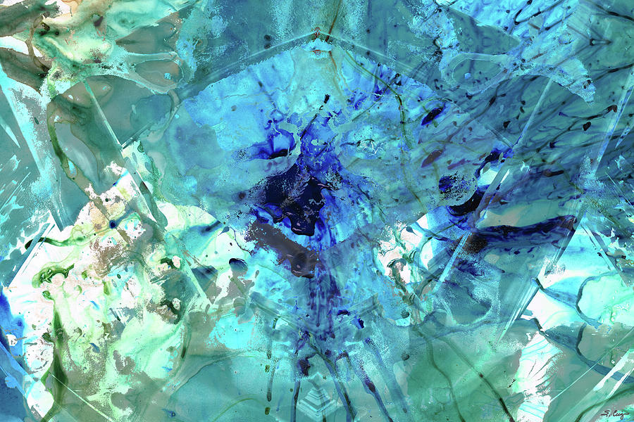 Blue Painting - Blue Abstract Art - Heavens Gate - Sharon Cummings by Sharon Cummings