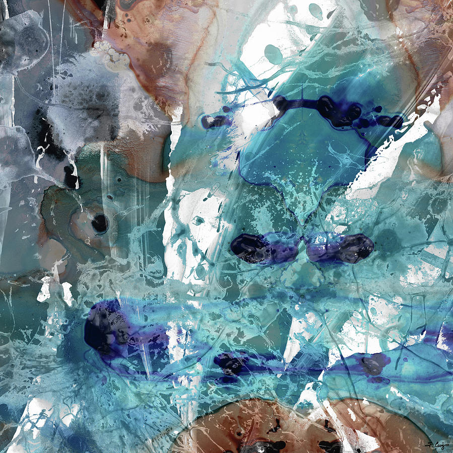 Blue Abstract Art - Pure Enchantment - Sharon Cummings by Sharon Cummings
