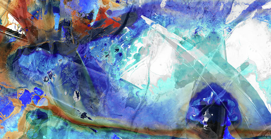 Blue Abstract Art - Storm Chaser - Sharon Cummings by Sharon Cummings