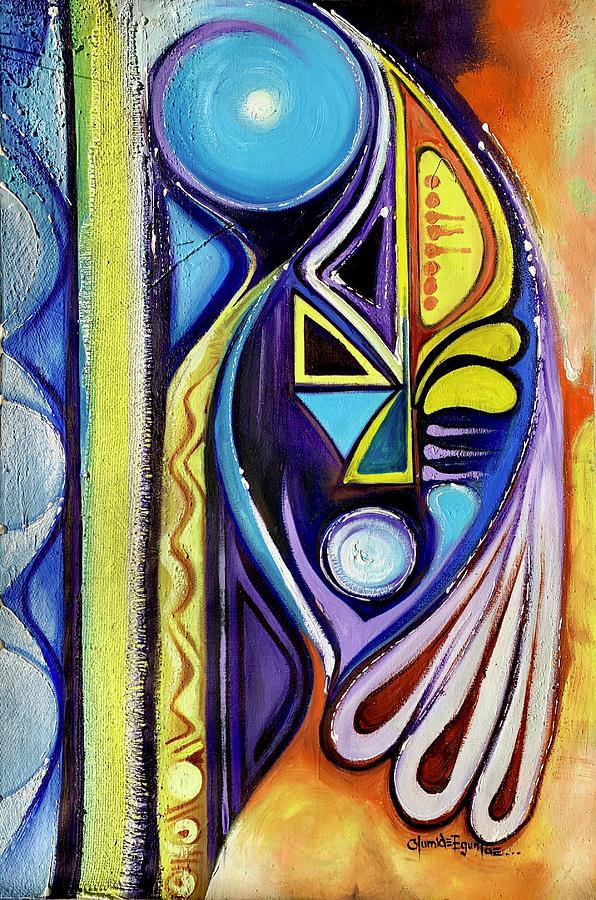Blue Abstract by Olumide Egunlae