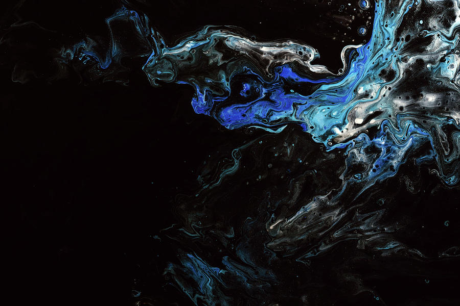 Blue and Black Background by Carlene Smith