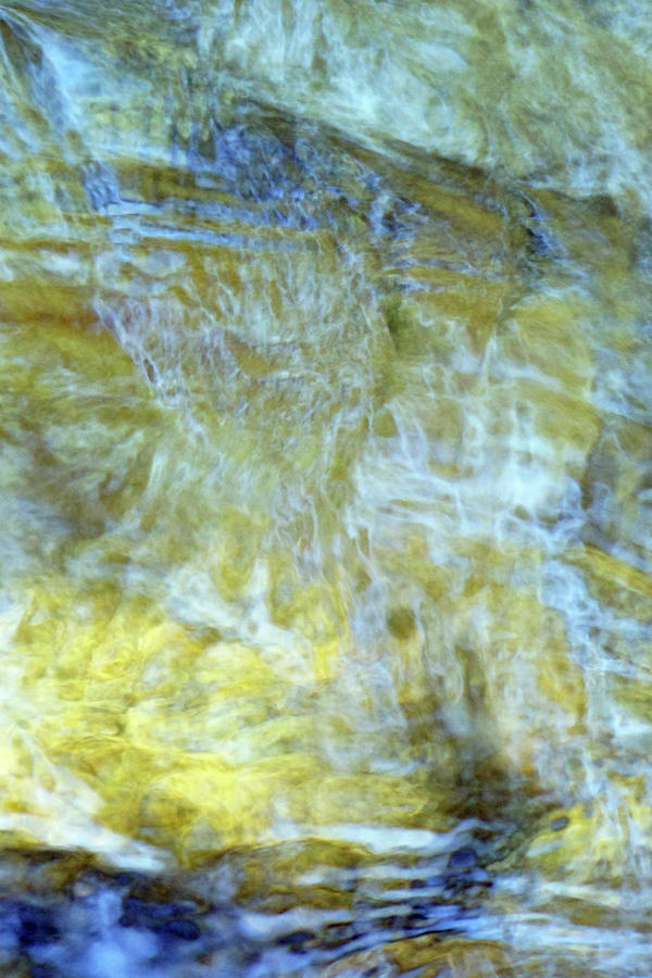 Blue and Gold Impression 5 by Deborah Ann Good