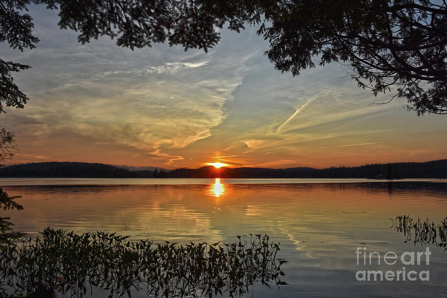 Blue and Gray Sunset by Christine Dekkers