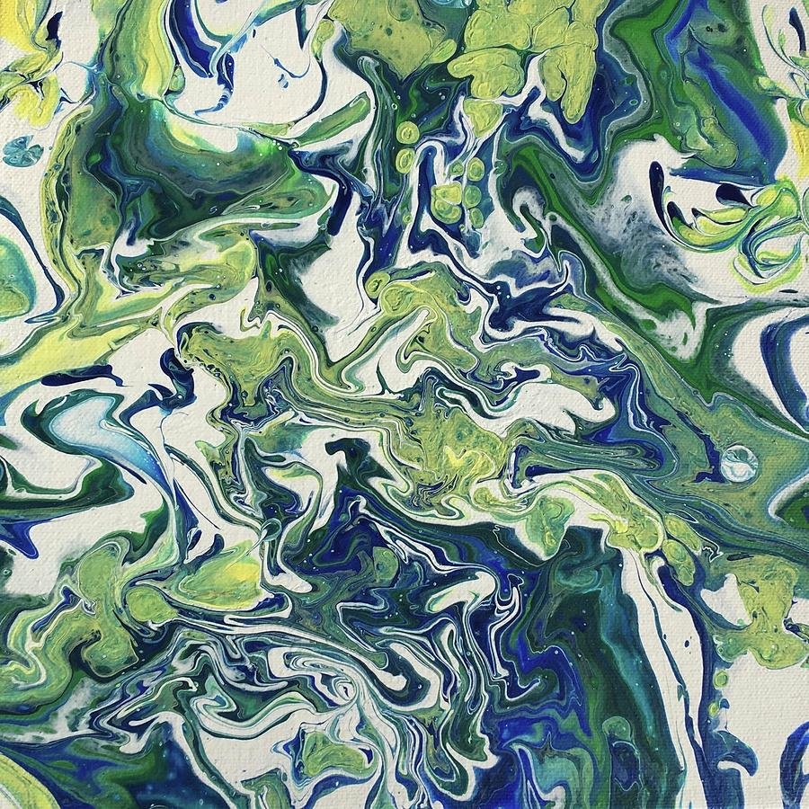 Blue and Green 2 by Kathy Flood
