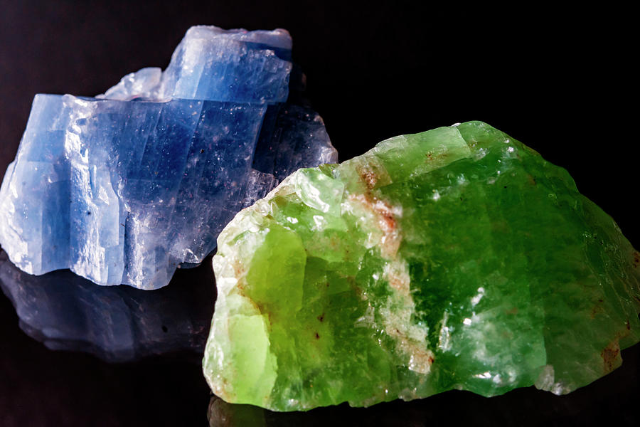 Quartz Photograph - Blue and Green Quartz by Lonnie Paulson