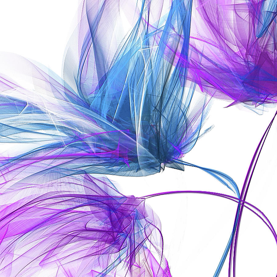 Blue And Purple I - Blue and Purple Abstract Art by Lourry Legarde