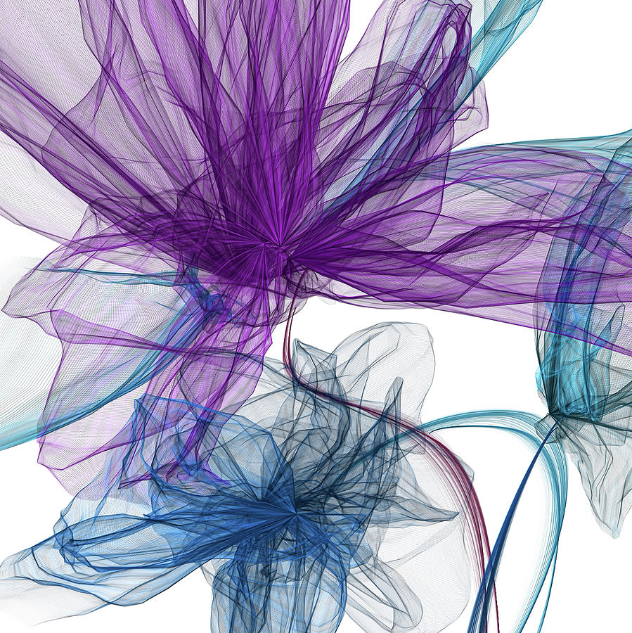 Blue And Purple Abstract Art by Lourry Legarde