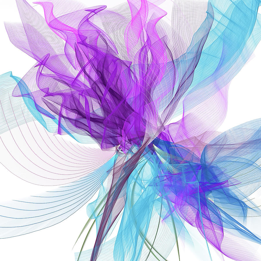 Blue And Purple Painting - Blue And Purple Art II by Lourry Legarde