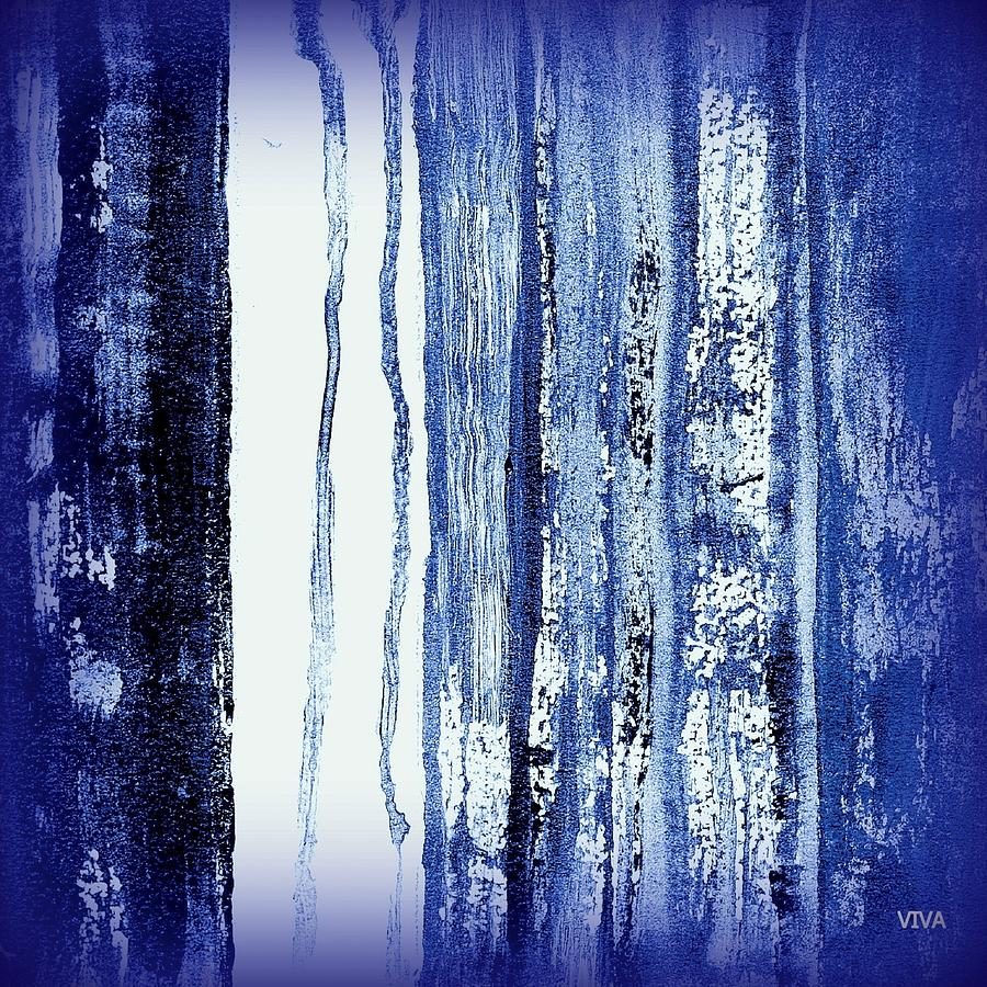 Blue and White Rainy Day by VIVA Anderson