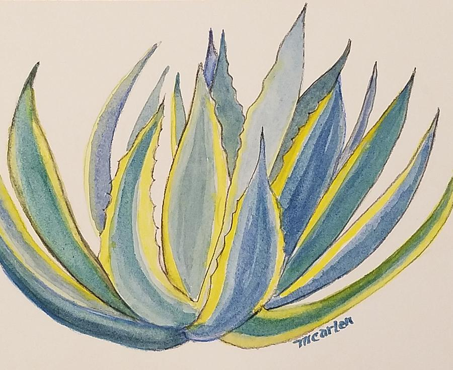Blue and Yellow Agave by M Carlen