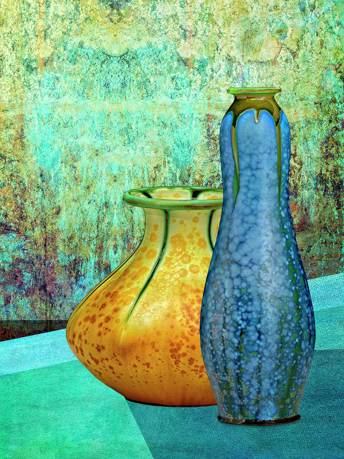 Blue and Yellow Vases by Sandra Selle Rodriguez