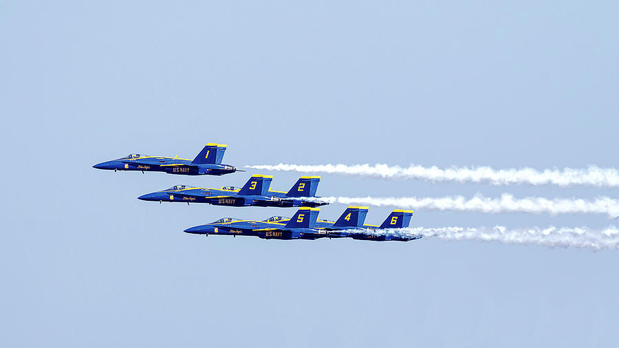 Blue Angels 1 3 2 5 4 6 by Wes and Dotty Weber