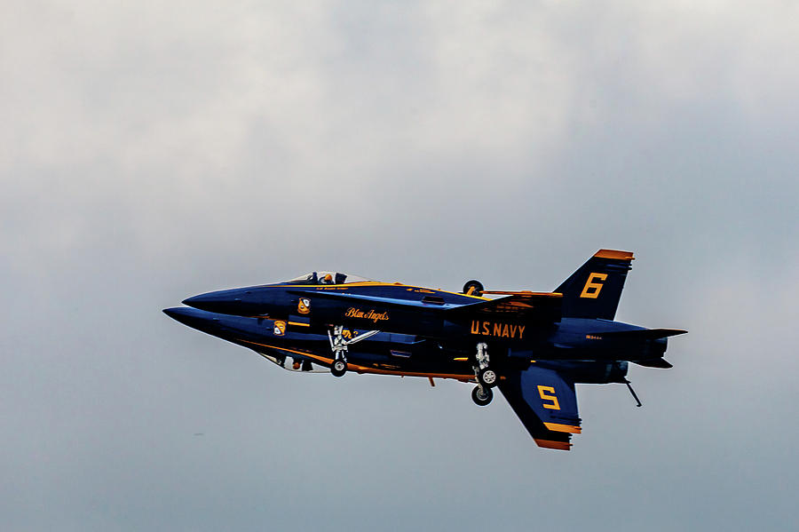 Blue Angels 5 and 6 as One by Donna Corless