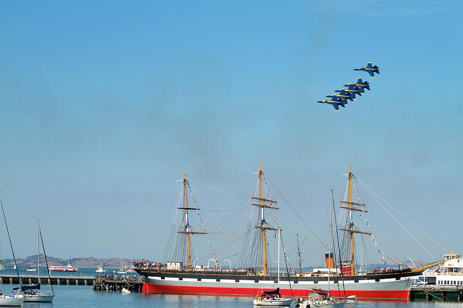 Blue Angels Cruisin San Francisco by Bonnie Follett