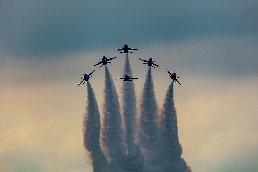 Blue Angels Delta Burst by Donna Corless