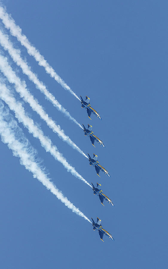Blue Angels Dive by Wes and Dotty Weber