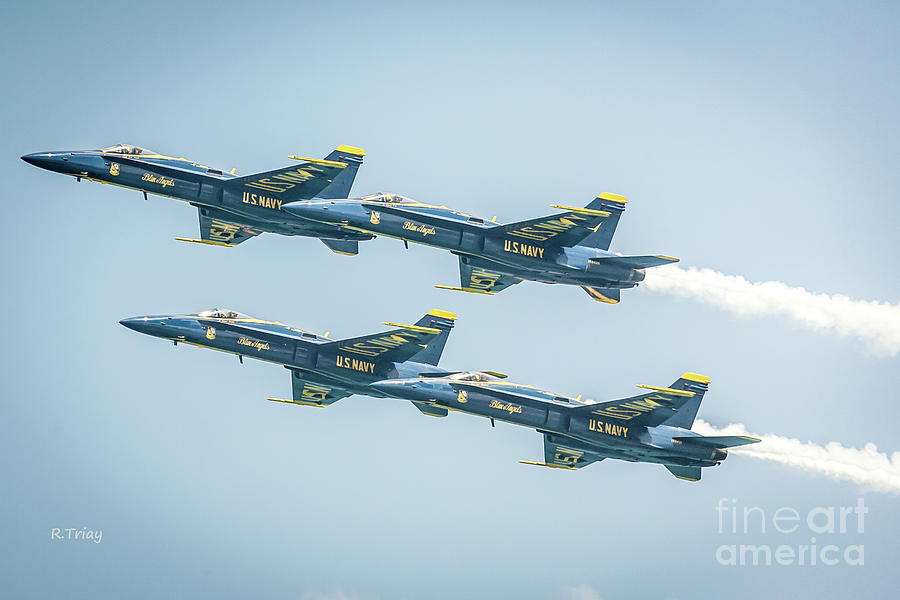 Blue Angels F-18 Flight Teeam by Rene Triay Photography