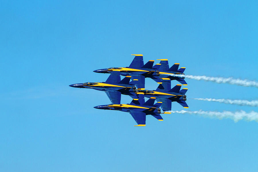 Blue Angels Fly By by Bonnie Follett