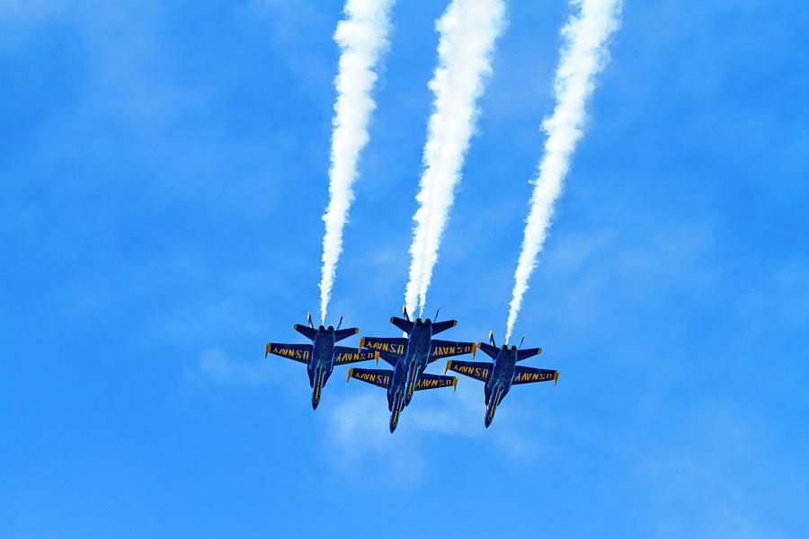 Blue Angels Over Head Surprise by Bonnie Follett