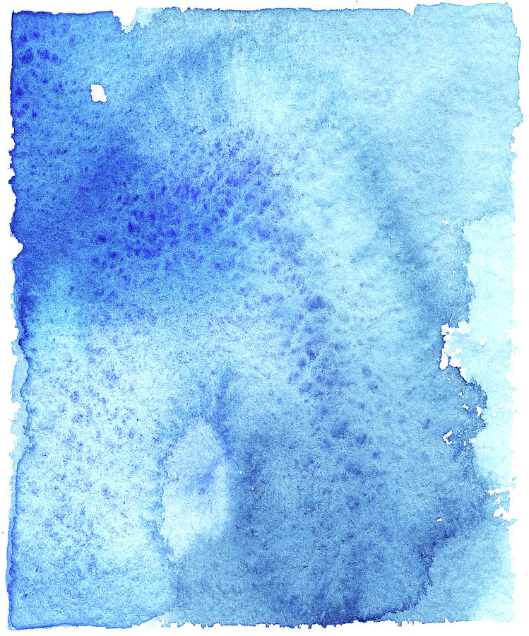 Blue Background Textured Watercolor Digital Art by Taice