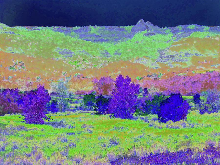 North Dakota Photograph - Blue Badlands Rhapsody by Cris Fulton