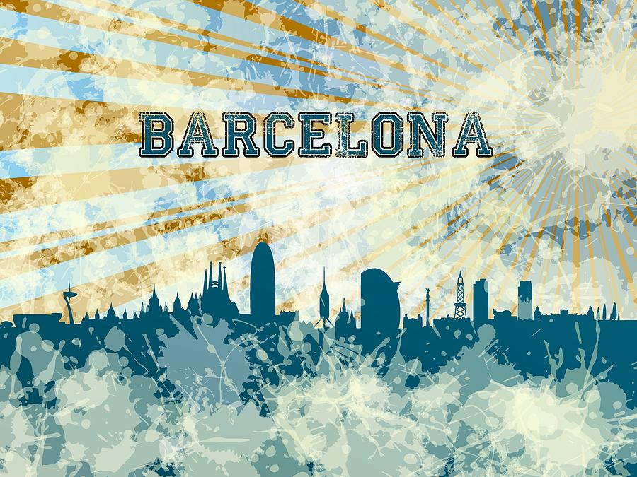 Blue Barcelona skyline by Alberto RuiZ