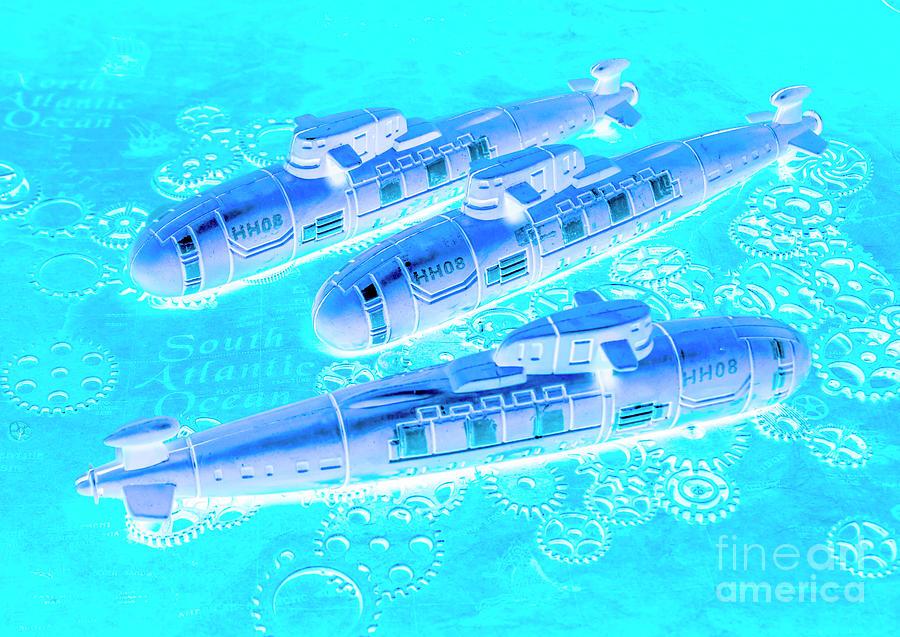 Blue Battle Plans Photograph