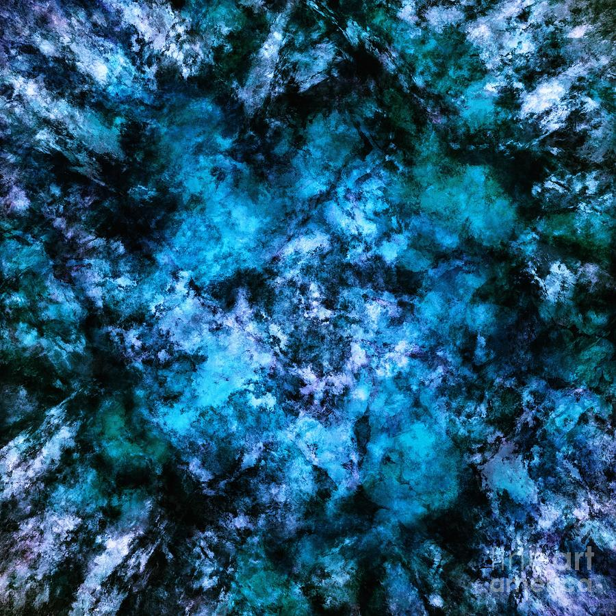 Blue Digital Art - Blue Burst by Keith Mills