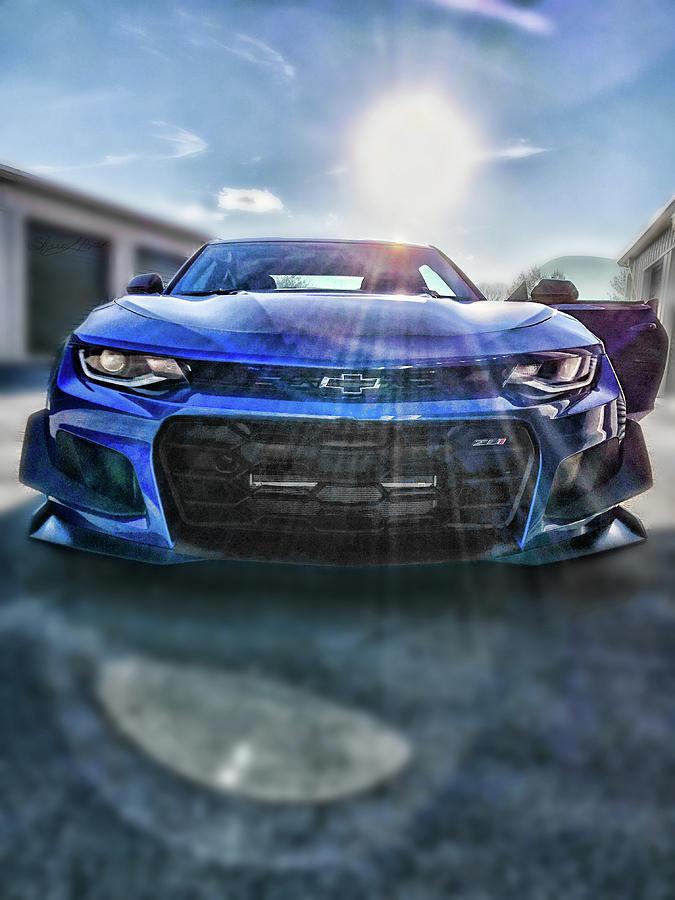 Blue Camaro Grill by Sharon Popek