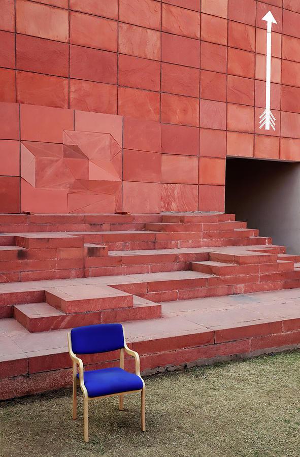 Blue Chair Versus White Arrow by Prakash Ghai