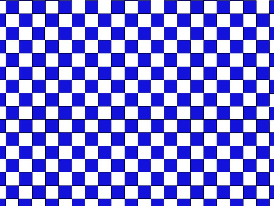 Blue Checkers by Andrew Williams