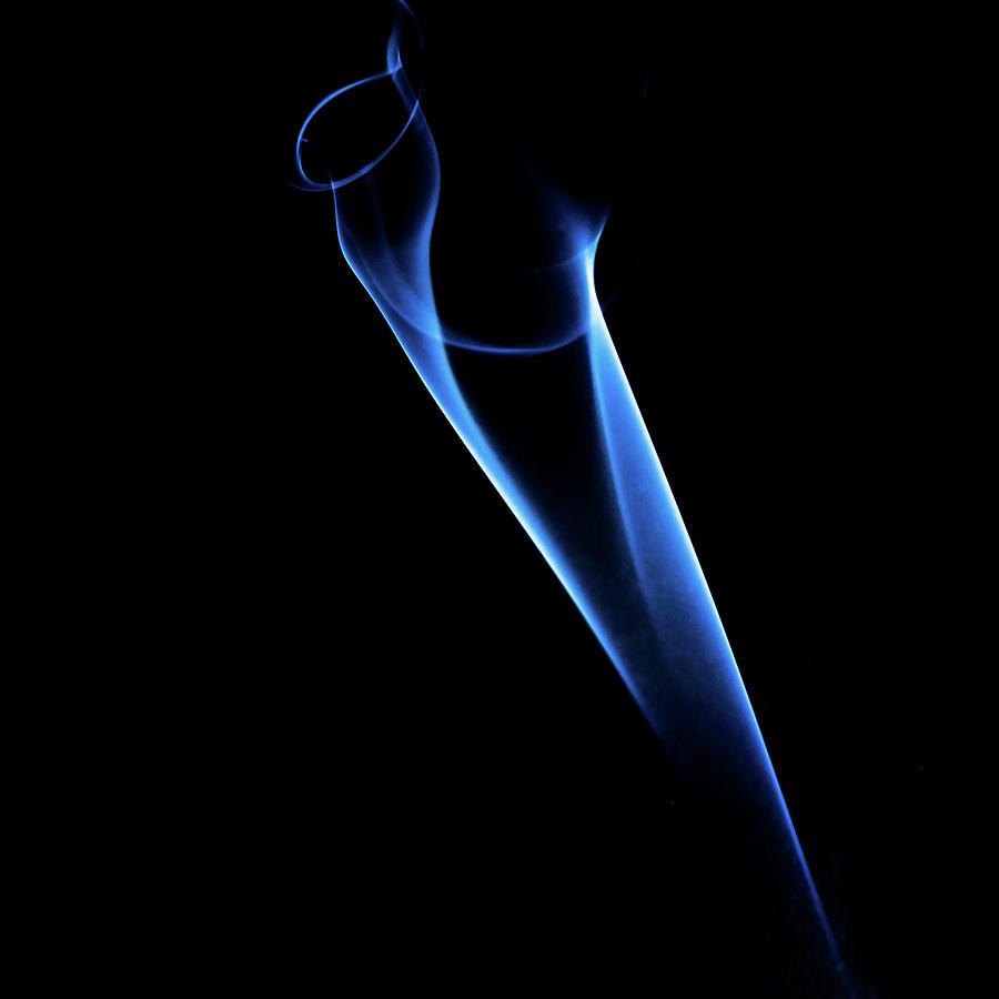 Blue Color Smoke Photograph by Ian Grainger