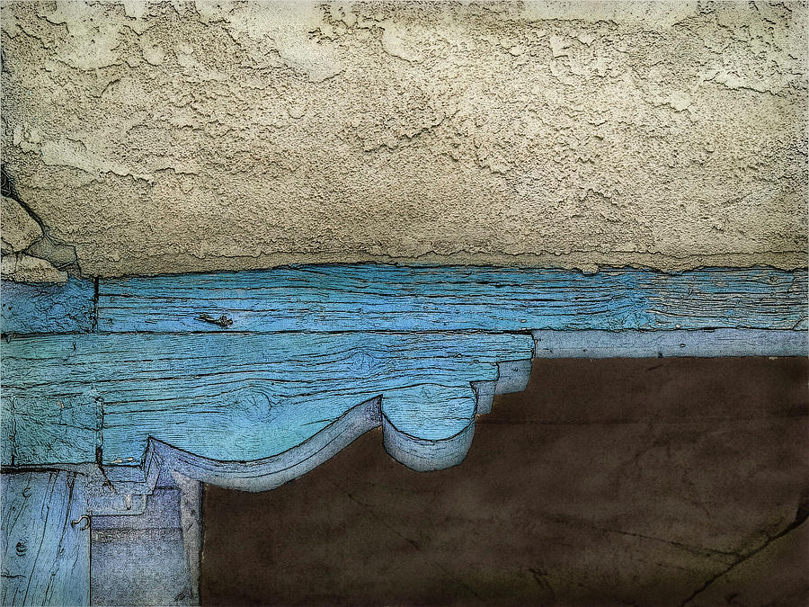 Blue Cornice by Western Light Graphics