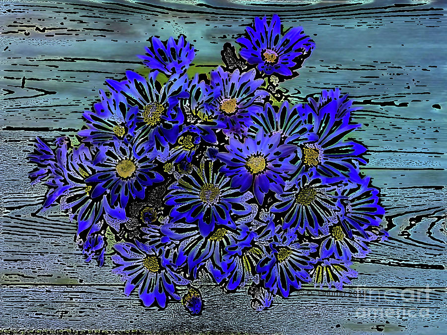 Blue Daisies by Dee Flouton