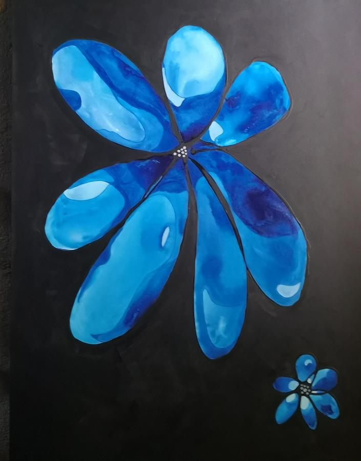 Blue Daisies by Pat Purdy