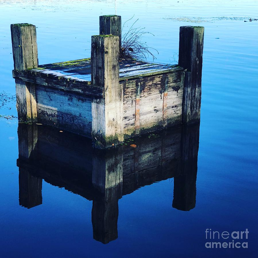 Blue Dock by Suzanne Lorenz