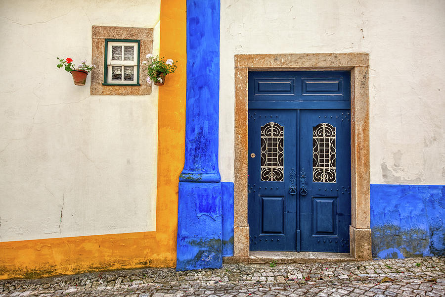 Blue Door of Medieval Portugal by David Letts