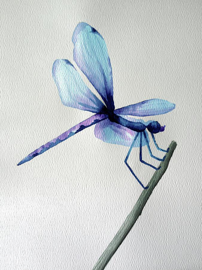 Blue Dragonfly by Lynellen Nielsen