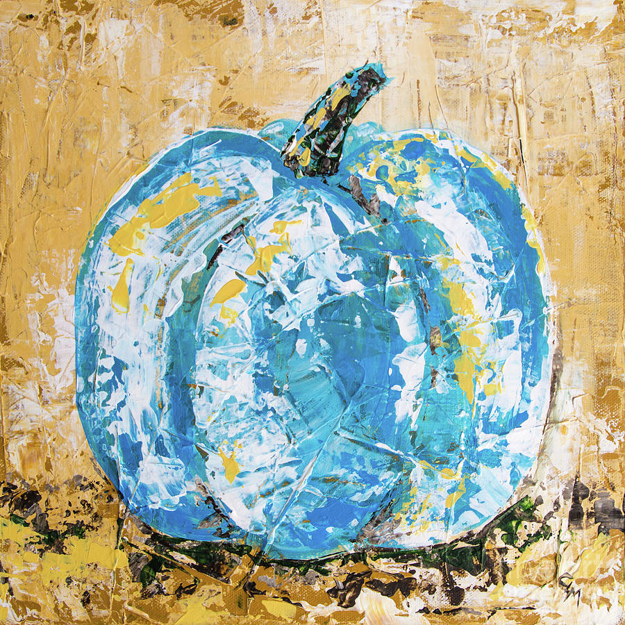 Blue Fall Pumpkin by Cheryl McClure